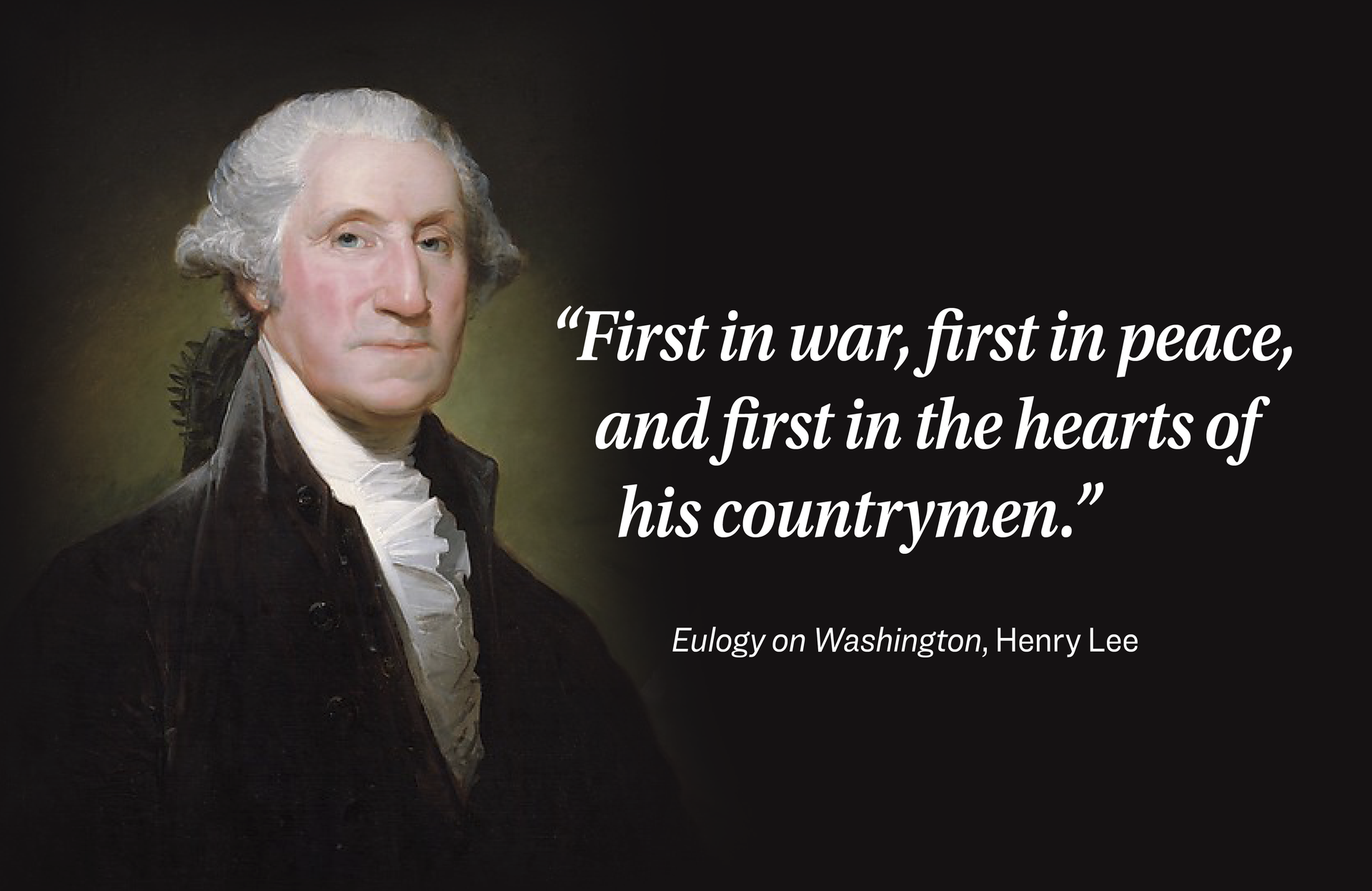 President George Washington is one of our nation's most iconic presidents
